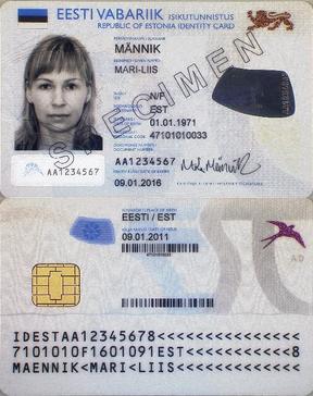 Estnische ID-Karte